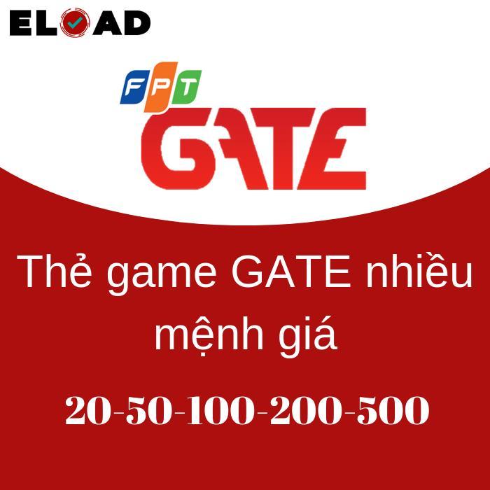 Mã Giảm Giá tại Lazada cho Mã Thẻ Game GATE Mệnh Giá 20K-50K-100K-200K-500K - Gửi Siêu Nhanh