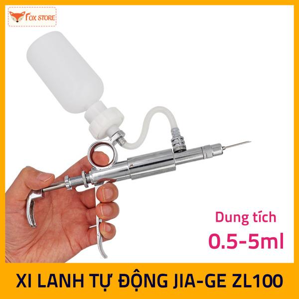 Xi Lanh tự động tiêm dung tích 0.5-5ml Inox JIA-GE ZL100 (tiêm vắc xin cho gà,  cho heo …)