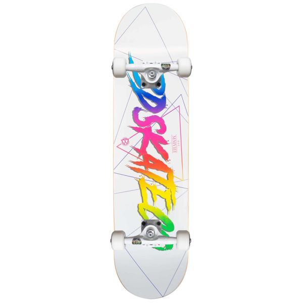 Ván Trượt Skateboard Thể Thao Cao Cấp Châu Âu- BDSKATECO SCRIP LOGO WHITE CUSTOM COMPLETE 8.0