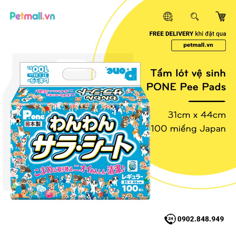 Tấm lót vệ sinh PONE Pee Pads 31cm x 44cm - 100 miếng Japan PETMALL.VN