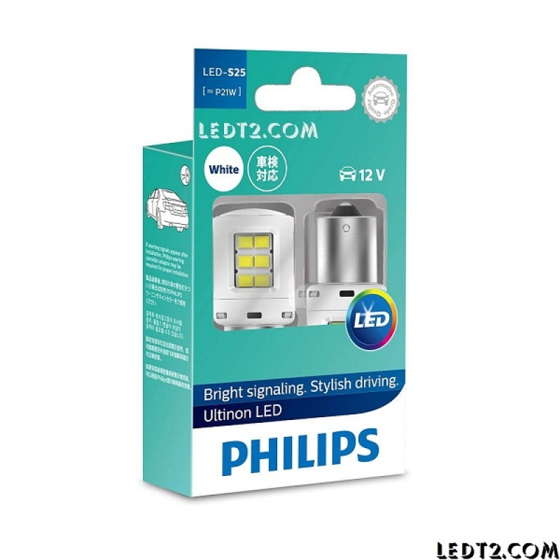 Đèn phanh, stop, lùi LED Philips Ultinon S25 P21 PY21 - Bảo hành 5 năm - Số lượng: 1 cái