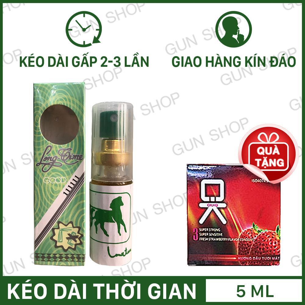 Hình ảnh Tinh chất chai xịt Longtime (Thái Lan) + Tặng 1 bao cao su Ok dâu (Hộp 3 chiếc) - [ Gunshop-TC04 ]
