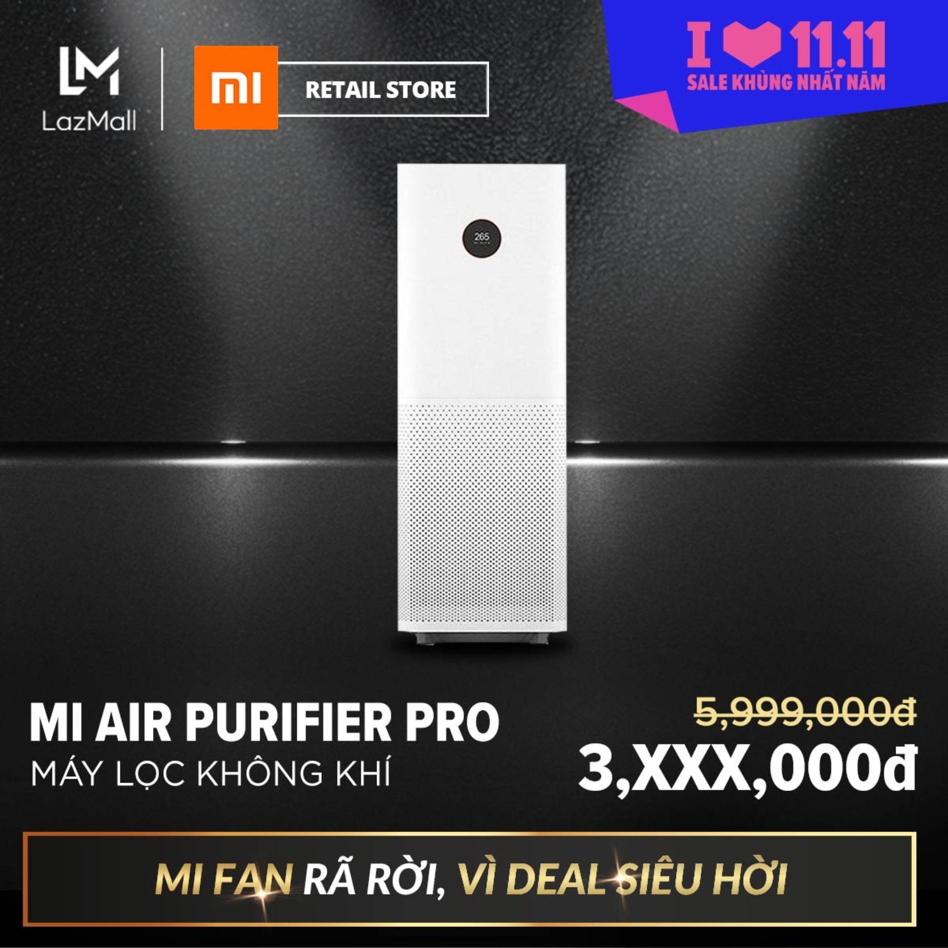 Bảng giá Máy lọc không khí Xiaomi Mi Air Purifier Pro/EU FJY4013GL (Trắng) - Hàng phân phối chính hãng, phù hợp diện tích 35-60 m2