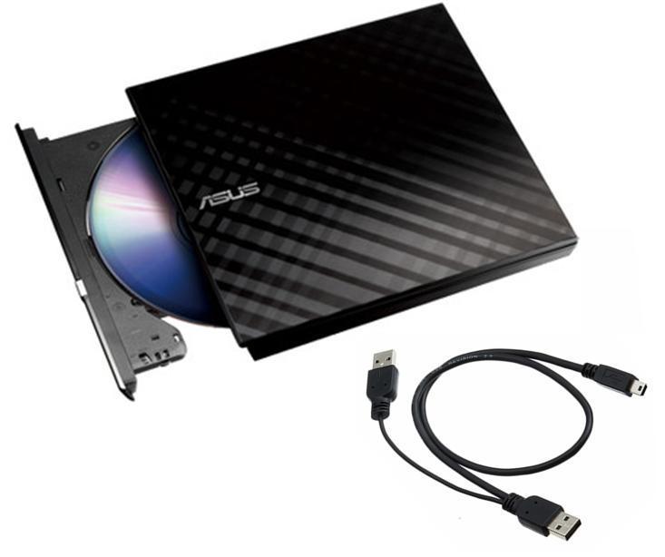 Ỗ đĩa Quang Rời Asus SDRW-08D2S-U DVD-RW External Slim (Đen) Giảm Cực Đã