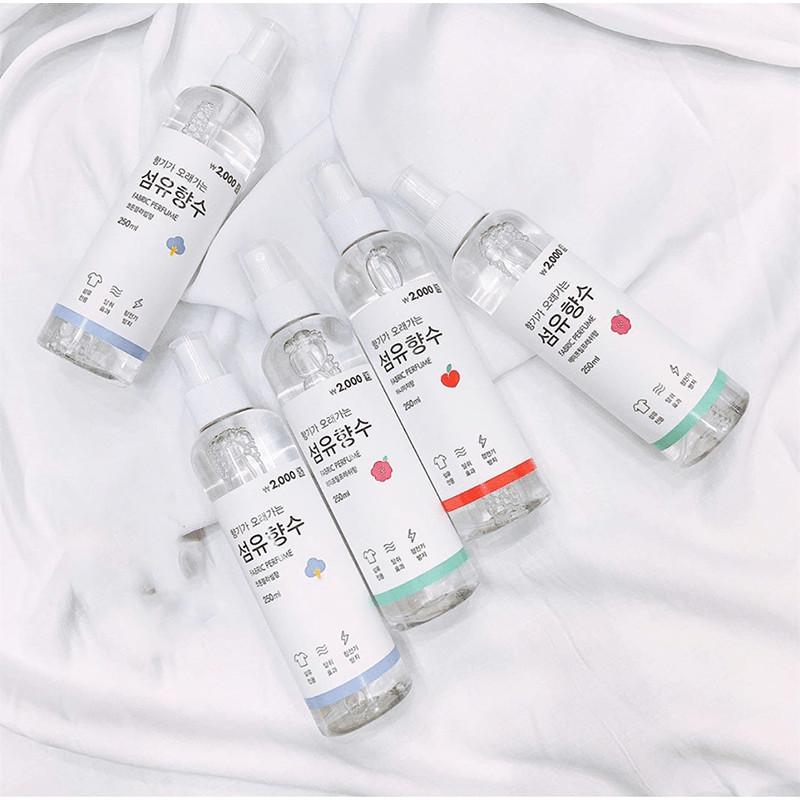 XỊT THƠM QUẦN ÁO FABRIC PERFUME HÀN QUỐC 250ML nhập khẩu