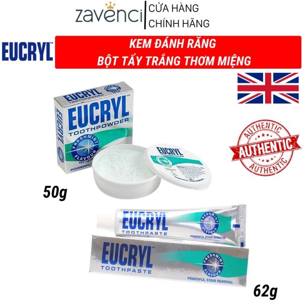 Bột Trắng Răng EUCRYL Toothpowder tẩy trắng răng thơm miệng chính hãng zavenci (50g) giá rẻ