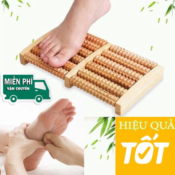 Dụng cụ massa chân - MASSA CHÂN 5 THANH BẰNG GỖ - giúp cho đôi chân yêu quý được đả thông kinh mạch, sung sướng dài lâu sau một ngày đi lại mệt mỏi. cao cấp