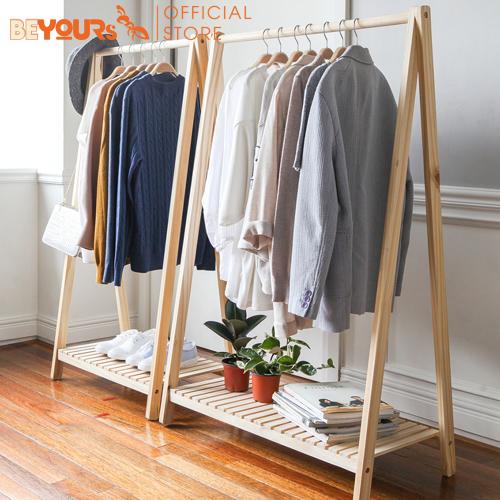 Offer Ưu Đãi Giá Treo Quần áo Gỗ BEYOURs A Hanger 1FM Nội Thất Kiểu Hàn Lắp Ráp Tiện Dụng
