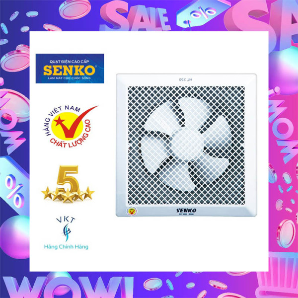 Quạt Hút Thông Gió Âm Trần Senko HT250 (40W) - Lỗ Khoét 30x30cm - Hàng Chính Hãng