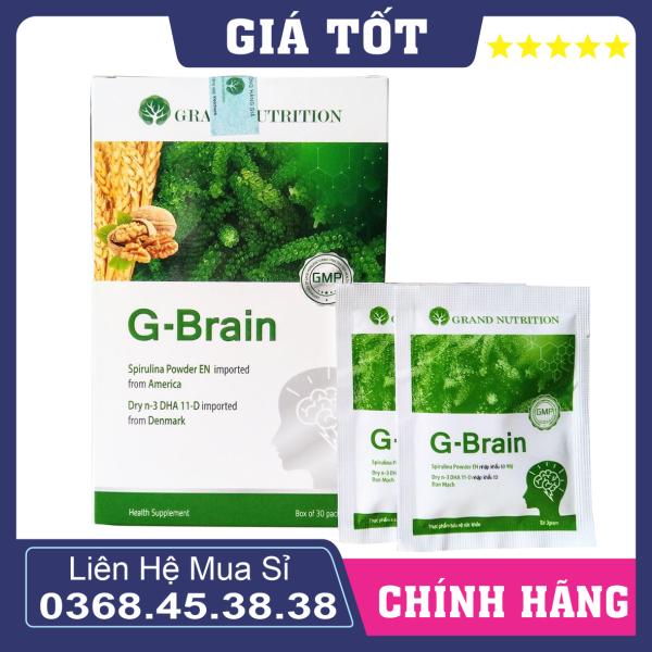 Cốm Bổ não sữa tảo non G-Brain - Hỗ trợ bổ sung DHA, các Vitamin hỗ trợ phát triển não bộ cho trẻ 5.0 cao cấp