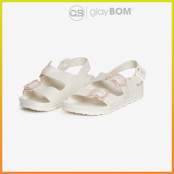 Sandal nữ giayBOM quai khóa chất liệu cao su nhẹ B1138 giá rẻ