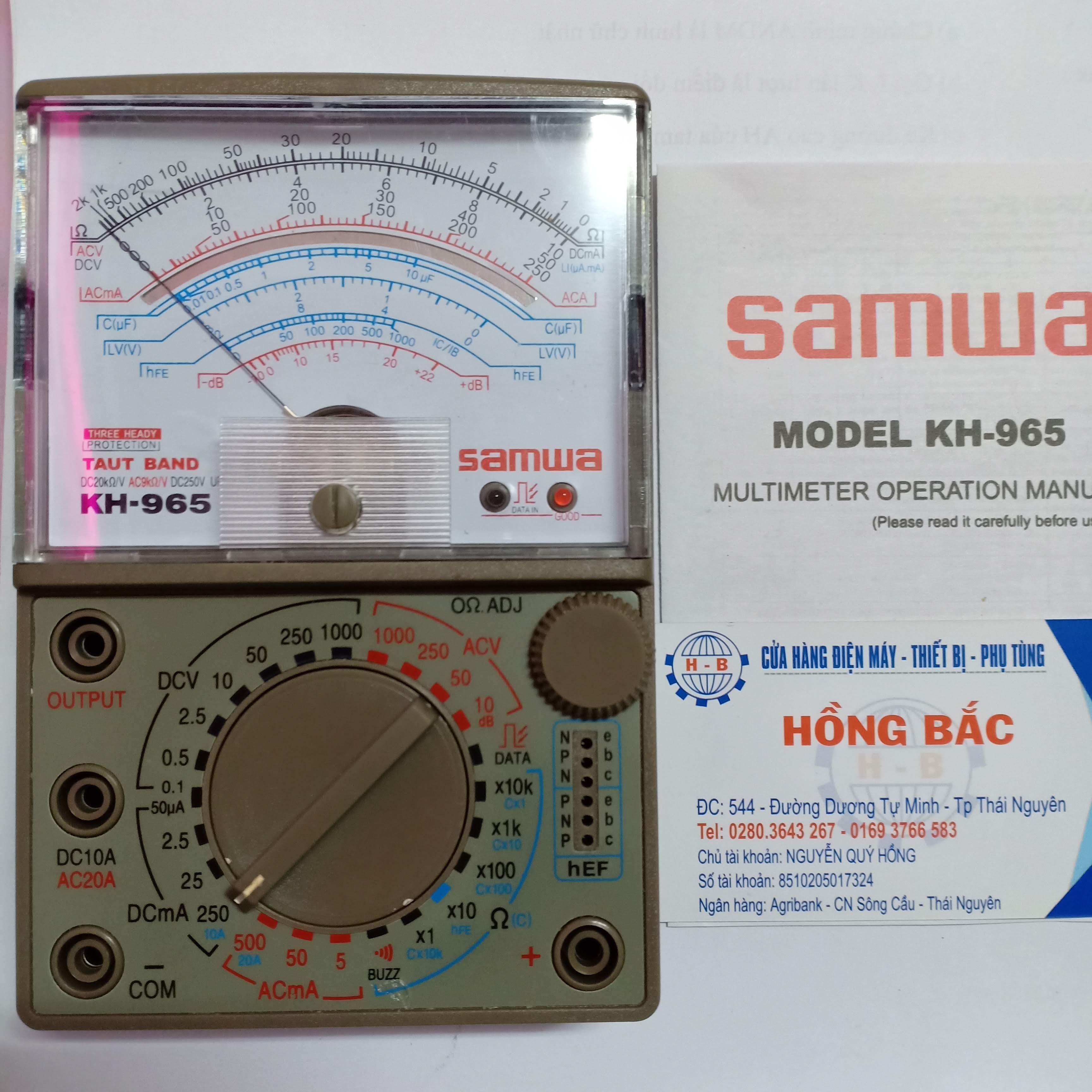 ĐỒNG HỒ ĐO VẠN NĂNG SAMWA KH-965