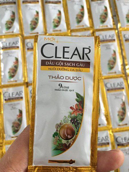 50 gói dầu gội clear thảo dược 6g (tặng kèm 1 túi đựng mỹ phẩm)