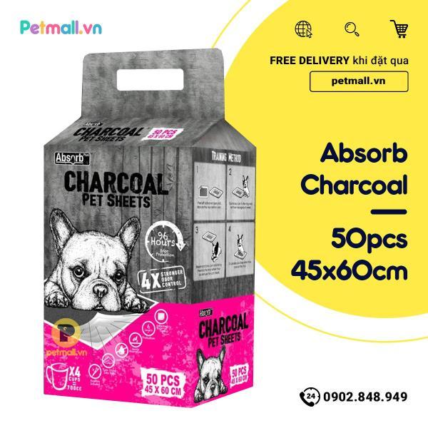 Tấm lót vệ sinh CHARCOAL 45x60cm - 50 tấm than hoạt tính