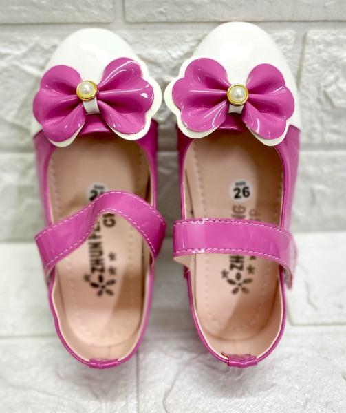 Giá bán Búp bê nơ thắt hột châu bé gái siêu bền đẹp - Giày đi học bé gái - Giày cho bé gái từ size 26 -35