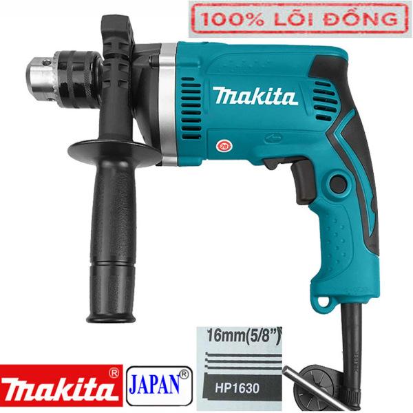 Mua Máy khoan cầm tay chính hãng, Máy khoan điện Makita HP 1630 có khoan búa - khoang tường - máy đục bê tông - máy khoan gỗ - máy khoan sắt - khoan lõi đồng 100% - Máy khoan Makita công suất lớn 1200W
