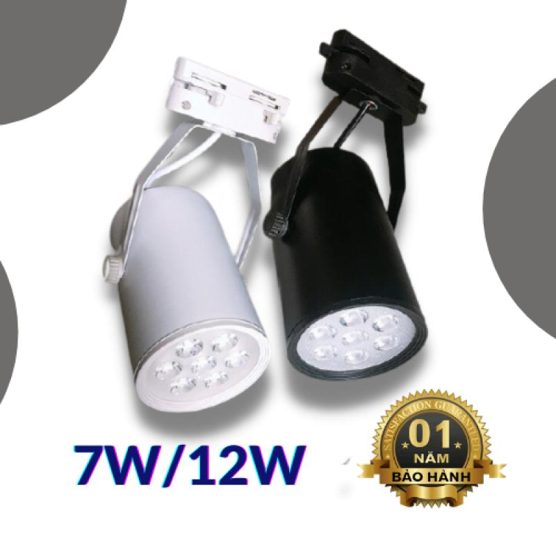 Đèn rọi ray COB ống bơ 7w, 12w chính hãng, tiết kiệm điện