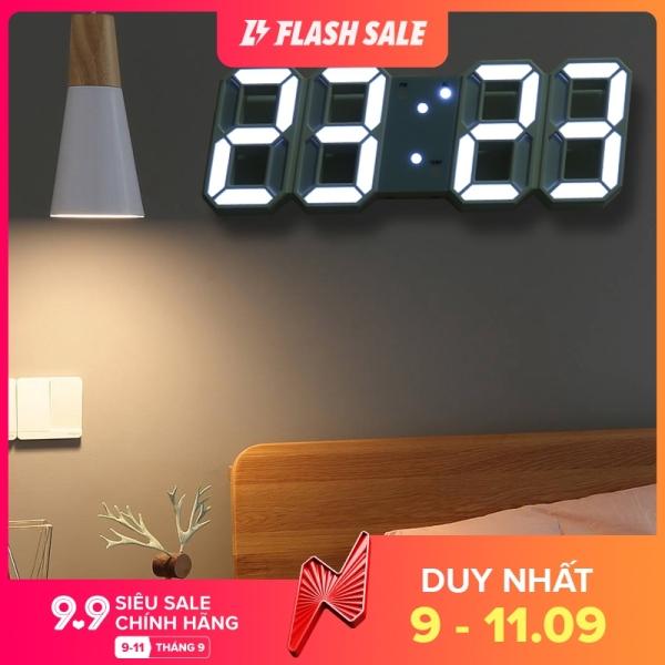 Nơi bán Đồng hồ led kỹ thuật số 3d nổi có âm thanh báo thức treo tường kiểu Hàn Quốc trang trí nhà cửa Memroy - INTL