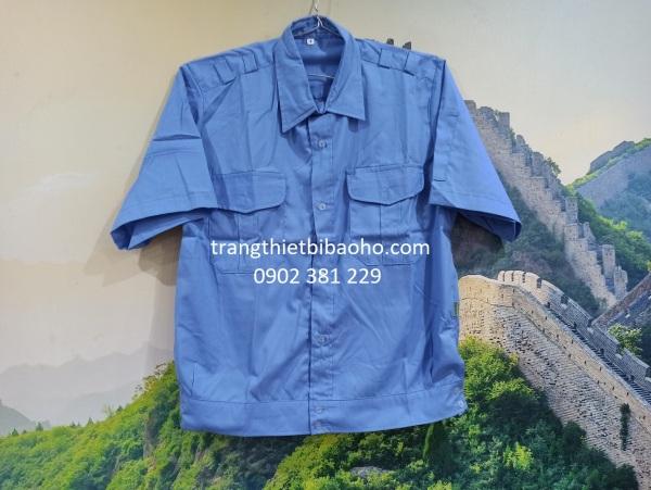 [HÀNG SẴN] - Áo đồng phục bảo vệ tay ngắn, tay dài đai bo dưới kiểu Budong - hình thật