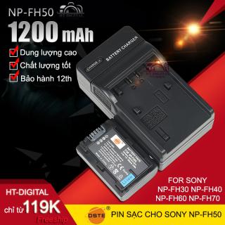 Combo Pin Sạc Cho Sony NP-FH50 Pin Cho Sony NP-FH30 NP-FH40 NP-FH50 NP-FH60 NP-FH70 thumbnail