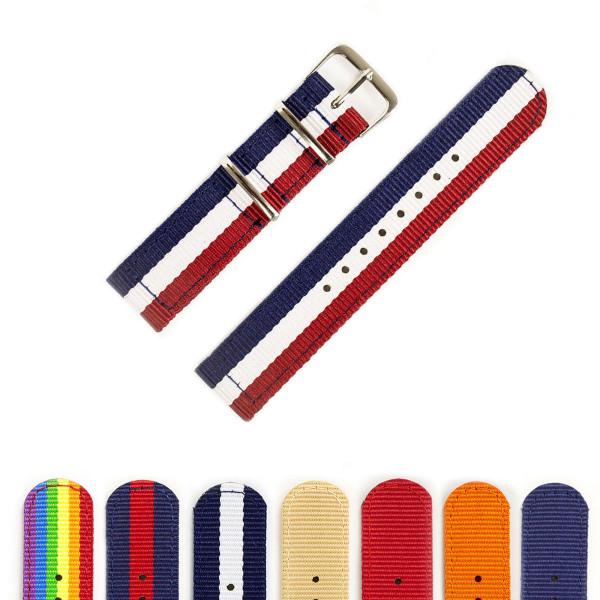 Nơi bán Dây đồng hồ nato vải dù D121 cỡ 18mm; 20mm, 22mm thoải mái đi trời mưa, lắp cho dây đeo đồng hồ dw rolex hublot orient seiko casio