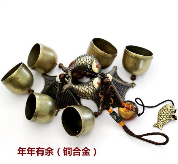 Yunnan Lijiang Copper Windbell Hangings Ornaments Creative Metal Bell Shop Doorbell 2 Floor 6 Bell Consecrated