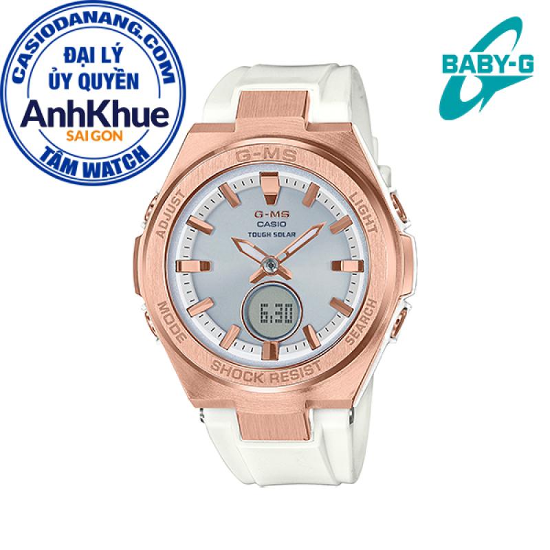 Đồng hồ nữ dây nhựa Casio Baby-G chính hãng Anh Khuê MSG-S200G-7ADR (38mm)