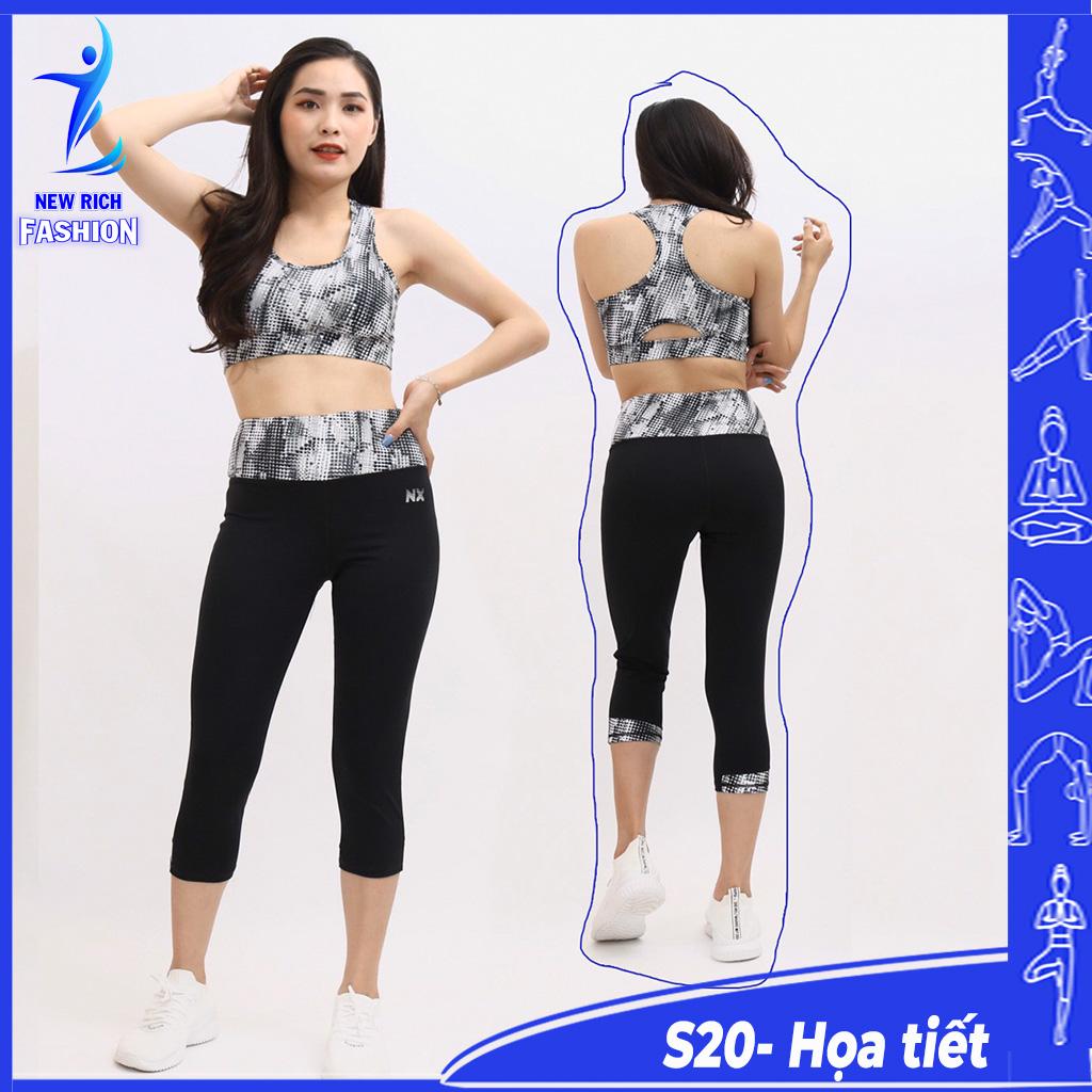 Đồ tập gym nữ lửng - Thiết kế chuyên dụng, chất vải co giãn 4 chiều, mềm mịn, ôm sát cơ thể