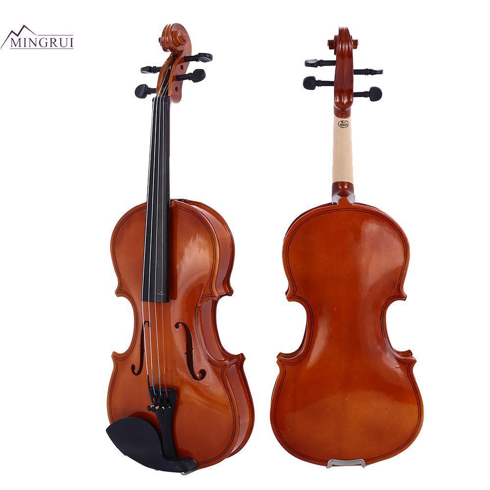 Mingrui Bright Red Oak Wood 4-6 Years Old Resin 1/8 Violin Beginner Violin