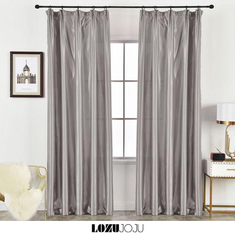 LOZUJOJU Một chiếc rèm cửa màu trơn với độ bóng 40%-50% thích hợp sử dụng trong phòng khách và phòng ngủ - INTL