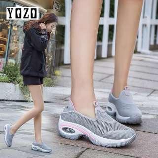 Giày Thể Thao Nữ Có Đệm Khí YOZO Giày Lười Giày Khiêu Vũ Giày Chạy Bộ Đơn Giản Tăng Chiều Cao