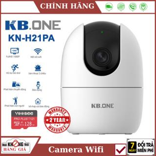 (Tùy chọn kèm thẻ 128GB), Camera Wifi KBONE KN-H21PA 2.0 Megapixel, quan sát 360 độ, tích hợp còi báo động, đàm thoại 2 chiều, theo dõi chuyển động , CAMERA Không Dây , Camera trong nhà , camera ngoài trời thumbnail