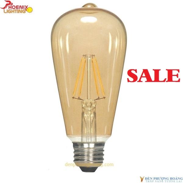 Bảng giá Bóng đèn LED Edison ST64 dimmer vỏ vàng