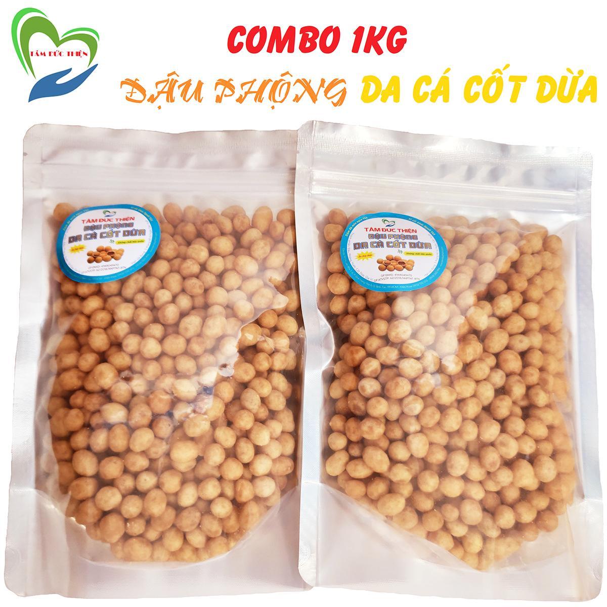 Coupon Ưu Đãi Combo 1KG Đậu Phộng Da Cá Nước Cốt Dừa (2 Túi ZIP 500GR) Thương Hiệu Tâm Đức Thiện - Đồ Ăn Vặt