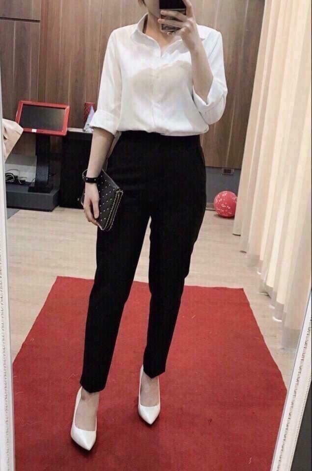 Quần tây baggy nữ công sở phong cách Hàn Quốc hàng đẹp