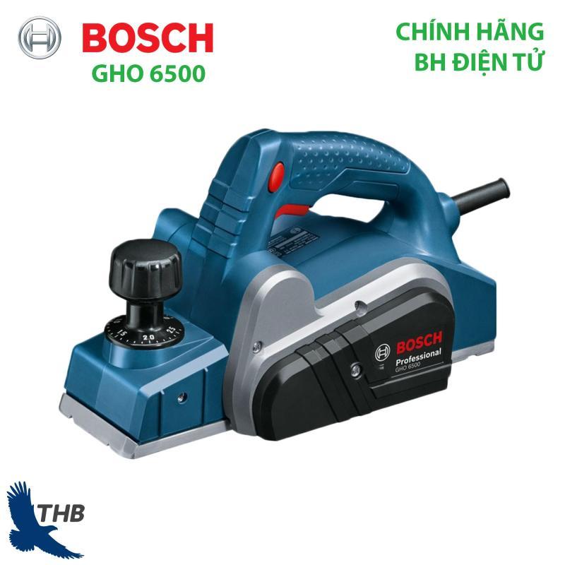 Máy bào gỗ, máy bào gỗ chính hãng Bosch GHO 6500 (công suất 650W, lưỡi mài 82mm, bảo hành điện tử 6 tháng)