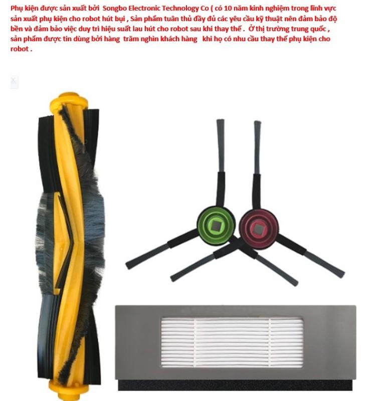 Bộ phụ kiện thay thế cho dòng robot lau hút bụi Ecovacs  T5   ,Ecovacs DEEBOT T8 ,Ecovacs OZMO 950 (cao cấp )
