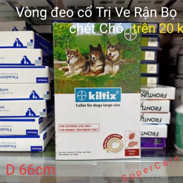 Kiltix ( Bayer )- Vòng Đeo Cổ Diệt Ve Rận Chó (Chó Trên 20Kg)