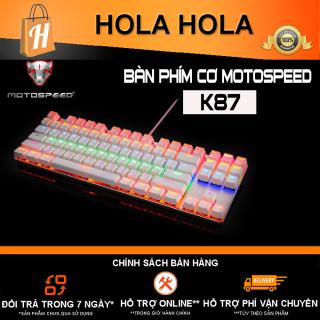 [HCM]Bàn phím cơ Motospeed K87 TKL LED Blacklight Rainbow Gaming Keyboard (Đỏ) thumbnail