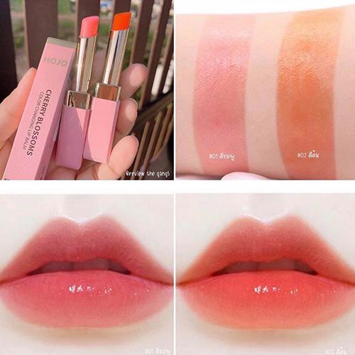 Son dưỡng môi có màu HoJo Cherry lên màu hồng, cam siêu xinh - Hàn Quốc tốt nhất