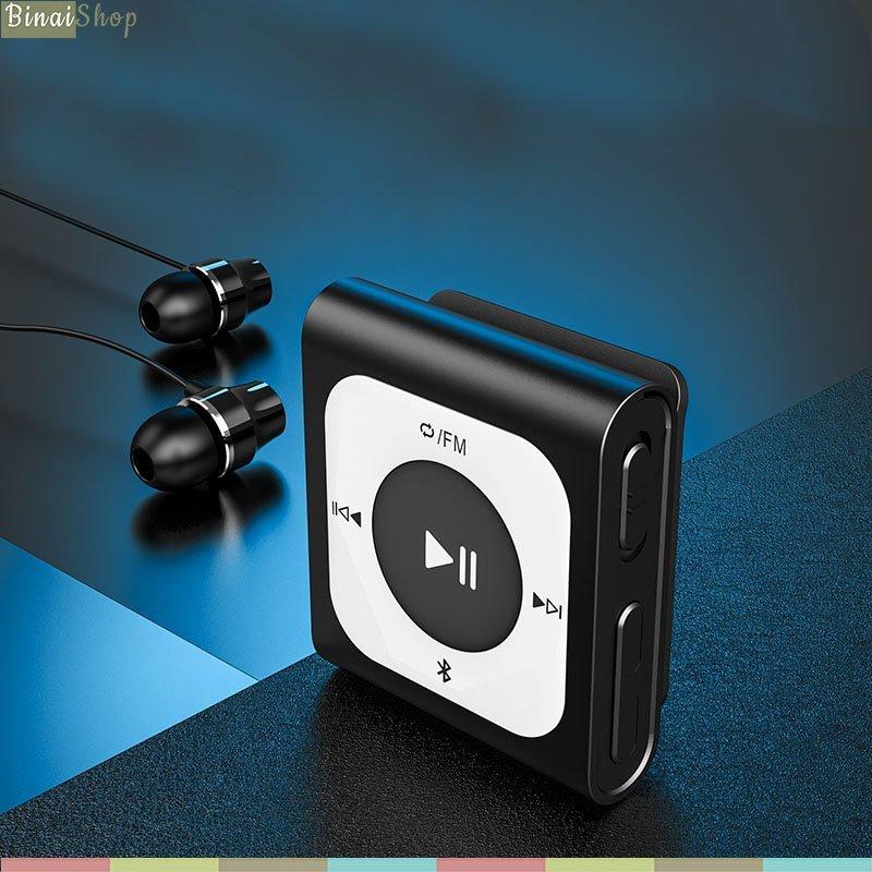 Ruizu X66 (16GB) - Máy Nghe Nhạc Thể Thao Nhỏ Gọn, Có Bluetooth (Tặng Tai Nghe Nhạc)