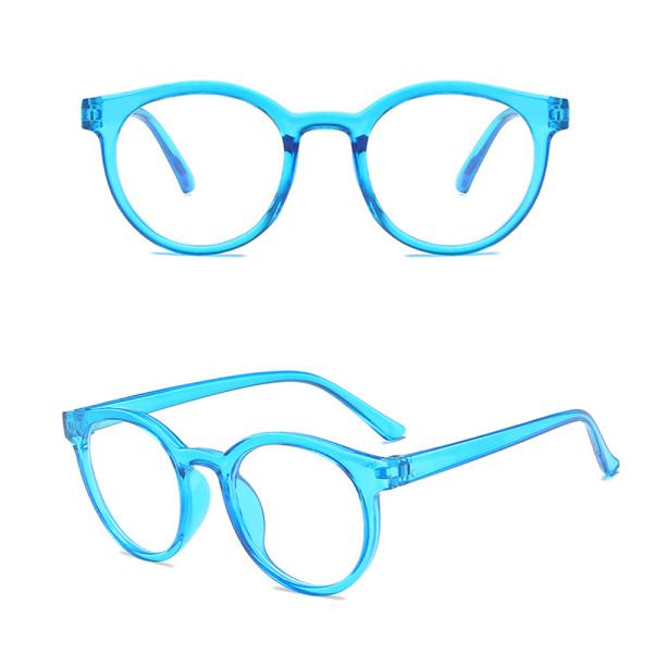 Giá bán EWELLBE Thời trang Bảo vệ kính Cầm tay Lớp học trực tuyến Kính mắt tròn Khung siêu nhẹ Chống ánh sáng xanh lam Kính trẻ em
