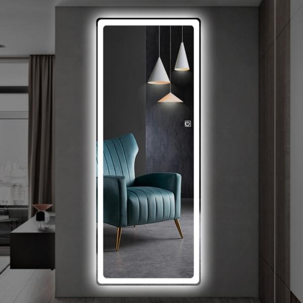 Gương soi toàn thân led cảm ứng VUADECOR treo tường kích thước 60x160cm giá rẻ