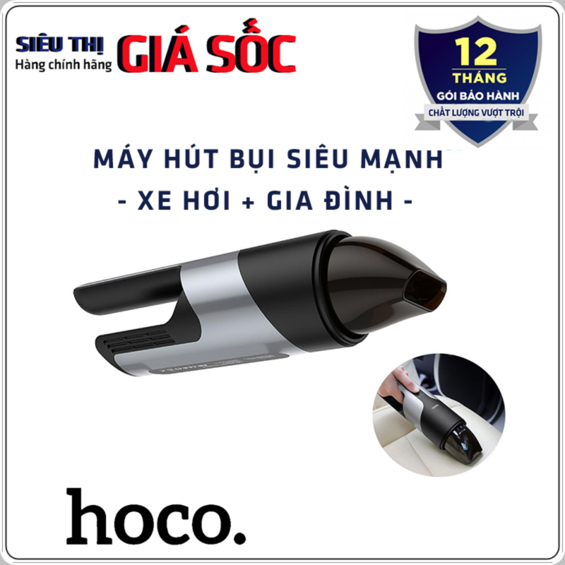 Máy hút bụi cầm tay xe hơi Hoco PH16 chính hãng, nhỏ gọn, lực hút mạnh sạch mọi ngóc ngách