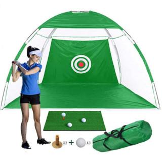 Combo tập golf tại nhà NHẬP KHẨU, bao gồm lều golf lớn 3M, thảm 30 x 60cm, 3 bóng tập và 2 tee kèm theo thumbnail