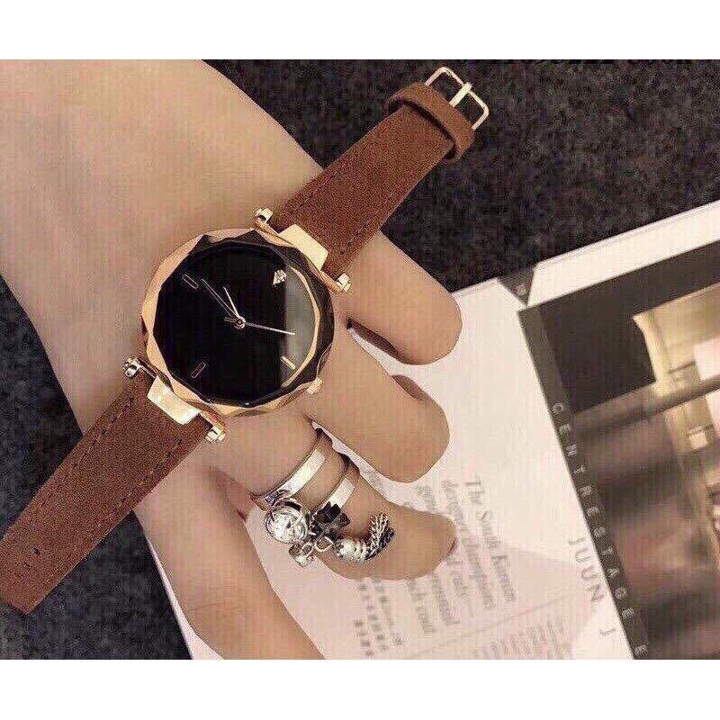 Đồng hồ thời trang nữ Dorin không số mặt kính 3D MS990