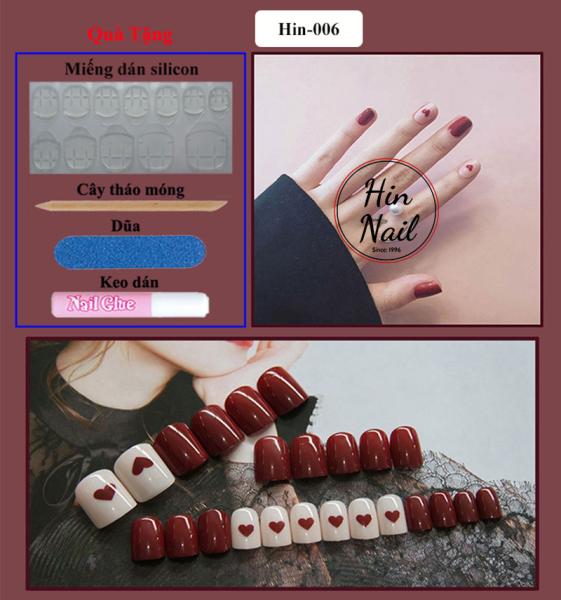 [Tặng keo dán + miếng silicon + dũa móng + cây tháo] móng tay giả có keo sẵn dán móng cao cấp chống nước - mong tay giả giá rẻ chất lượng cao giá rẻ