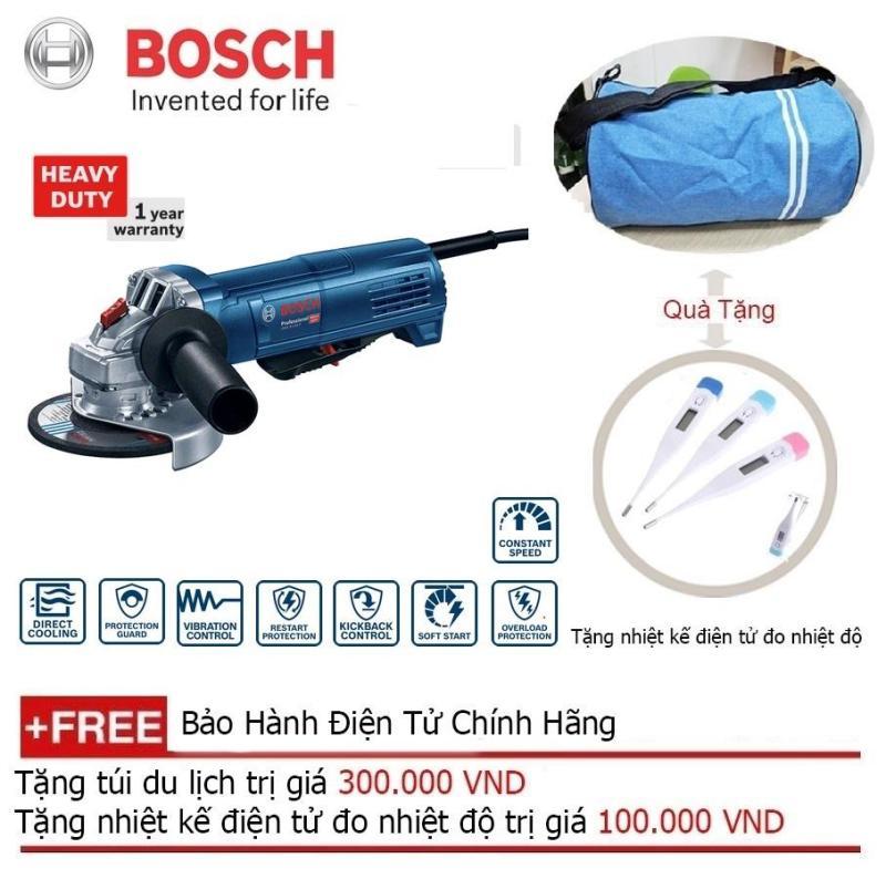 Máy mài góc Bosch GWS 9-100P (công tắc an toàn) + Quà tặng nhiệt kế điện tử
