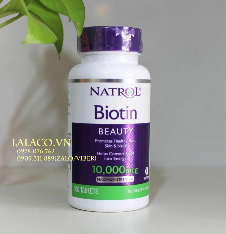 Mọc tóc Natrol Biotin 10000 mcg 100 viên cao cấp