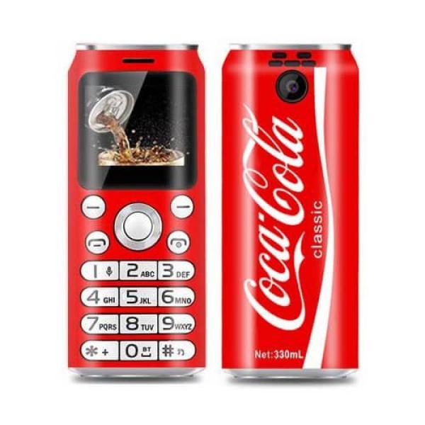 Điện thoại mini siêu nhỏ siêu độc lạ hình lon nước coca cola pepsi 2 sim với khả năng giả giọng nói kết nối Smartphone - K8 mini
